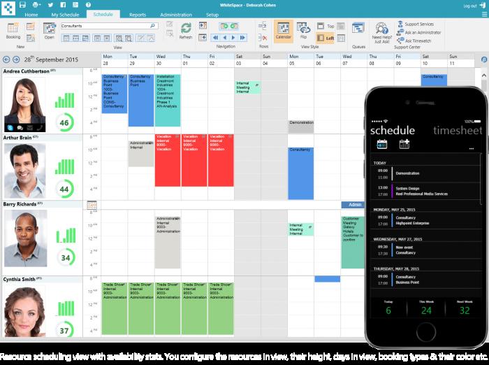 resource scheduling view
