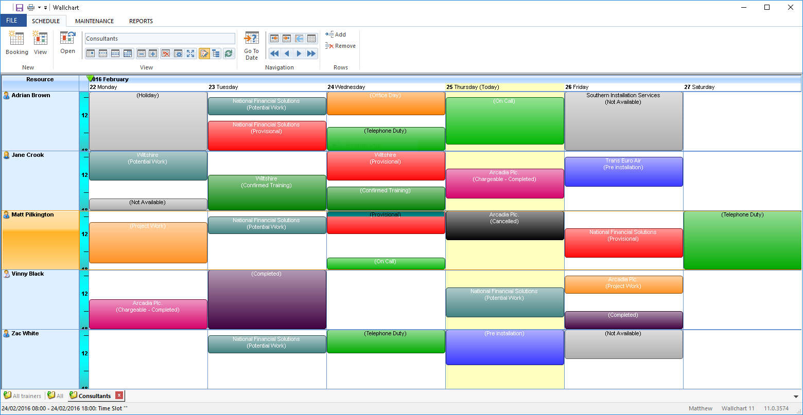 Wallchart for Windows Version 11